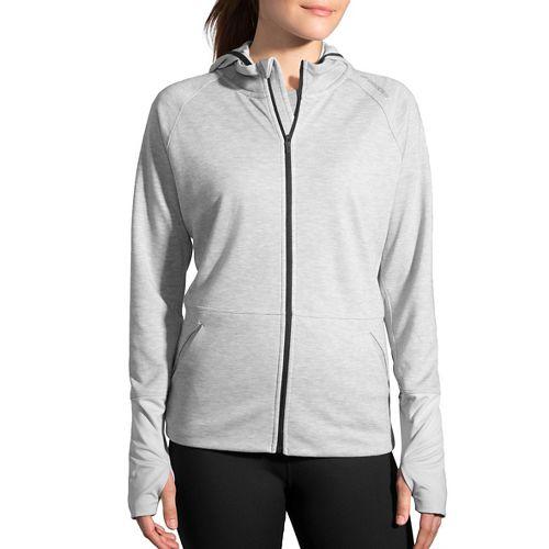 Womens Brooks Joyride Hoodie & Sweatshirts Technical Tops - Heather Oxford L