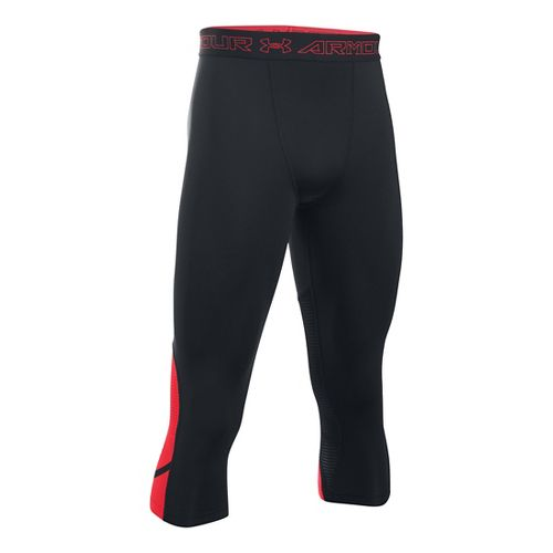 Mens Under Armour HeatGear Supervent Tights & Leggings Pants - Black/Red XL