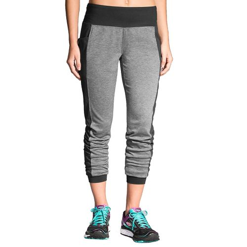 Womens Brooks Joyride Pants - Heather Black XS