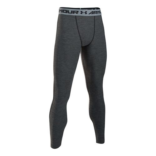 Mens Under Armour HeatGear Twist Compression Tights & Leggings Pants - Black/Steel XLR