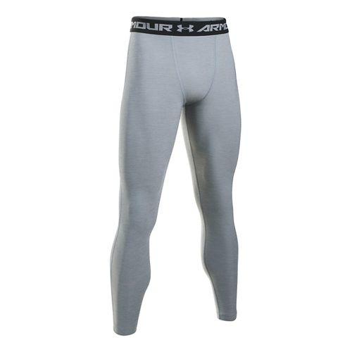 Mens Under Armour HeatGear Twist Compression Tights & Leggings Pants - Steel/Black 3XLR