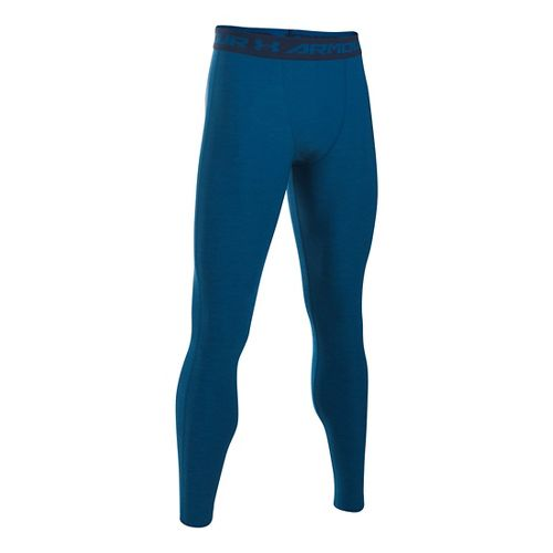 Mens Under Armour HeatGear Twist Compression Tights & Leggings Pants - Heron/Navy XLR