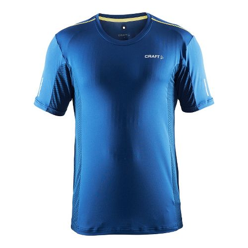 Mens Craft Focus Mesh Tee Short Sleeve Technical Tops - Deep/Vega XL