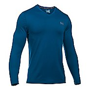 Mens Under Armour Lounge V Neck Long Sleeve Technical Tops