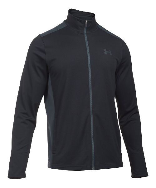 Mens Under Armour Maverick Running Jackets - Black/Stealth Grey XL