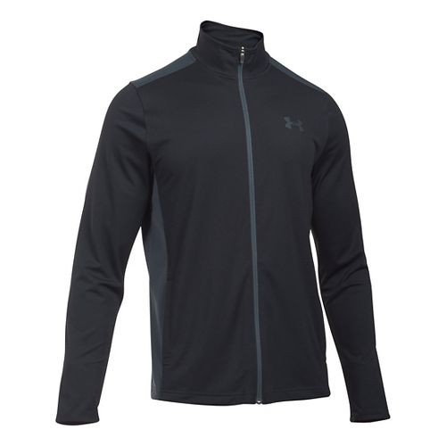 Mens Under Armour Maverick Running Jackets - Black/Stealth Grey L