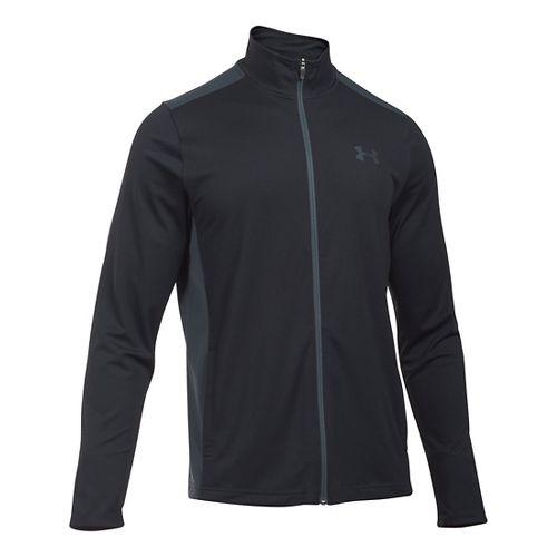 Mens Under Armour Maverick Running Jackets - Black/Stealth Grey S