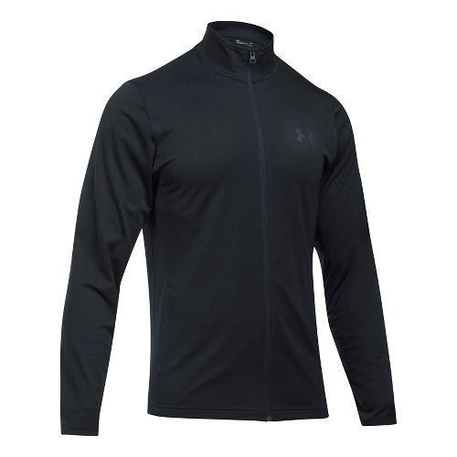 Mens Under Armour Maverick Running Jackets - Black/Black XL-T