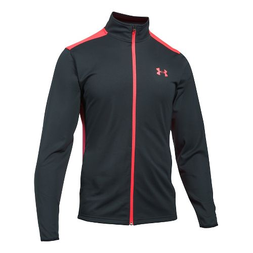 Mens Under Armour Maverick Running Jackets - Anthracite/Red S