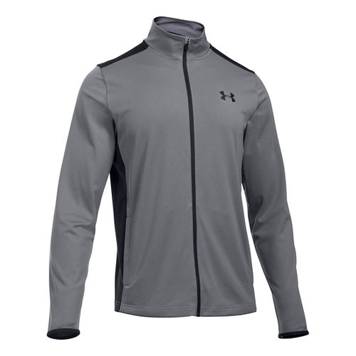 Mens Under Armour Maverick Running Jackets - Graphite/Black M