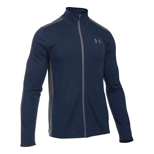 Mens Under Armour Maverick Running Jackets - Navy/Graphite S