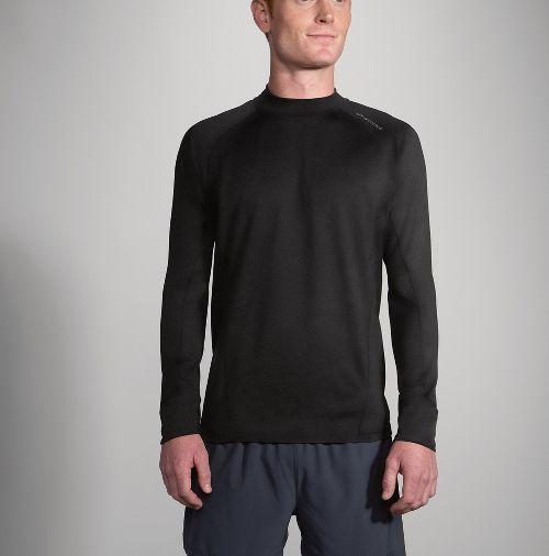 Mens Brooks Dash Long Sleeve Technical Tops - Black XL