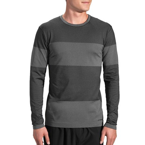 Womens Brooks Streaker Long Sleeve Technical Tops - Asphalt S