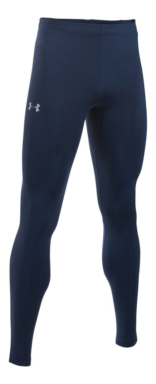 Mens Under Armour No Breaks HeatGear Tights & Leggings Pants - Navy/Navy M