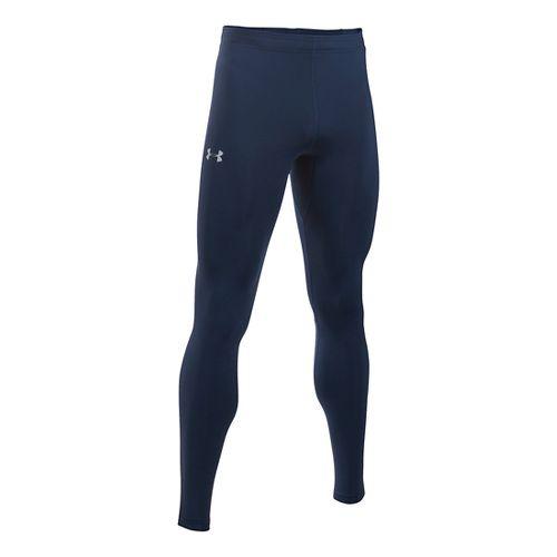 Mens Under Armour No Breaks HeatGear Tights & Leggings Pants - Navy/Navy L