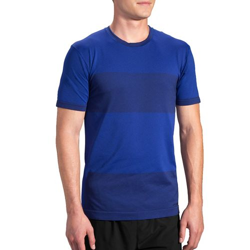 Mens Brooks Streaker Short Sleeve Technical Tops - Basin L