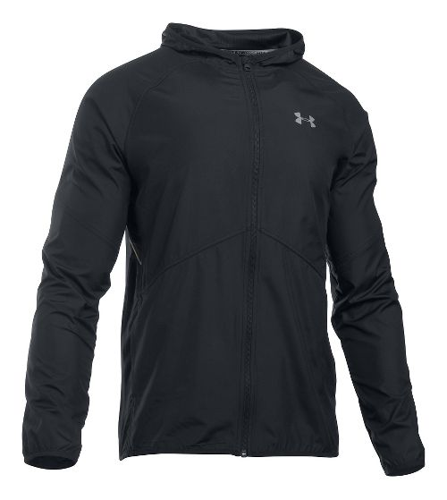 Mens Under Armour No Breaks Storm 1 Running Jackets - Black/Black XL