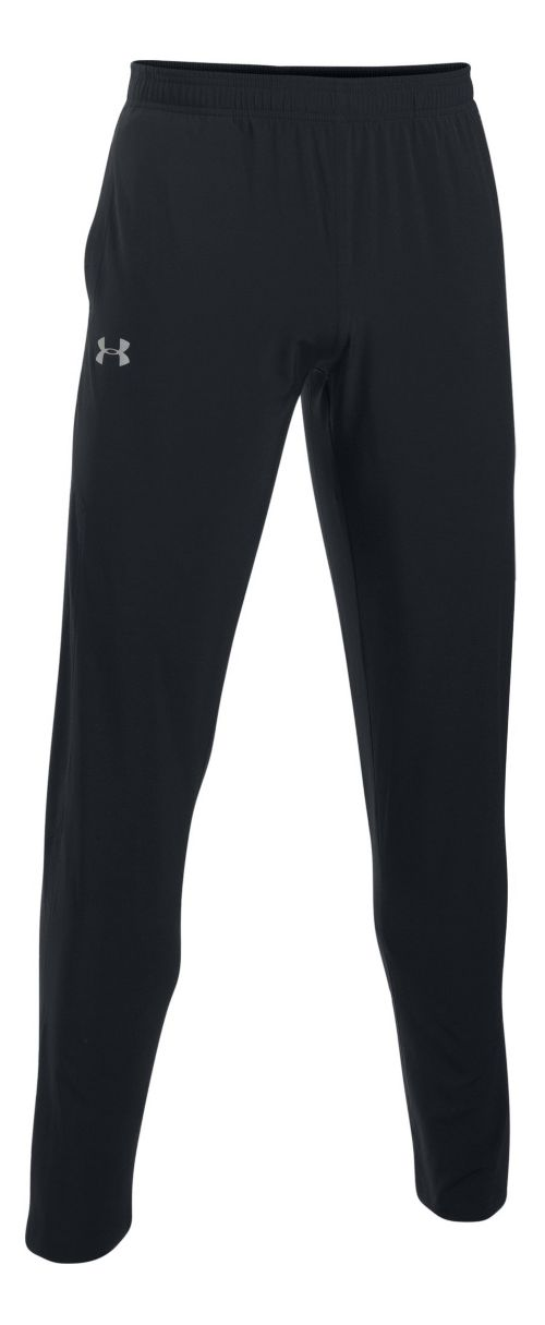 Mens Under Armour No Breaks SW Tapered Pants - Black/Black L