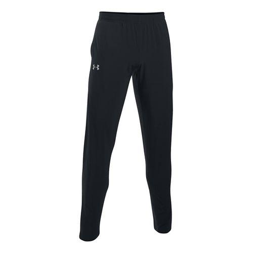 Mens Under Armour No Breaks SW Tapered Pants - Black/Black L