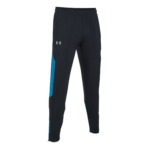 Mens Under Armour No Breaks SW Tapered Pants - Black/Brilliant Blue M