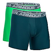 "Mens Under Armour O Series 6"" BoxerJock 2 Pack Boxer Brief Underwear Bottoms"