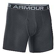 Mens Under Armour Original 6'' BoxerJock Print Boxer Brief Underwear Bottoms - Black/Steel XXL