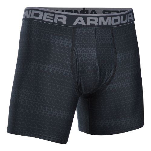 Mens Under Armour Original 6'' BoxerJock Print Boxer Brief Underwear Bottoms - Black S