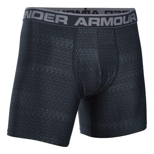 Mens Under Armour Original 6'' BoxerJock Print Boxer Brief Underwear Bottoms - Black XL