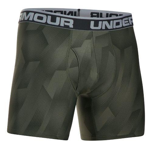 Mens Under Armour Original 6'' BoxerJock Print Boxer Brief Underwear Bottoms - Downtown Green S