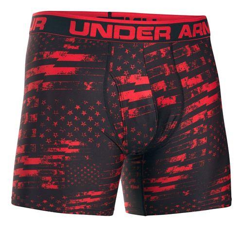 Mens Under Armour Original 6'' BoxerJock Print Boxer Brief Underwear Bottoms - Red/Red L