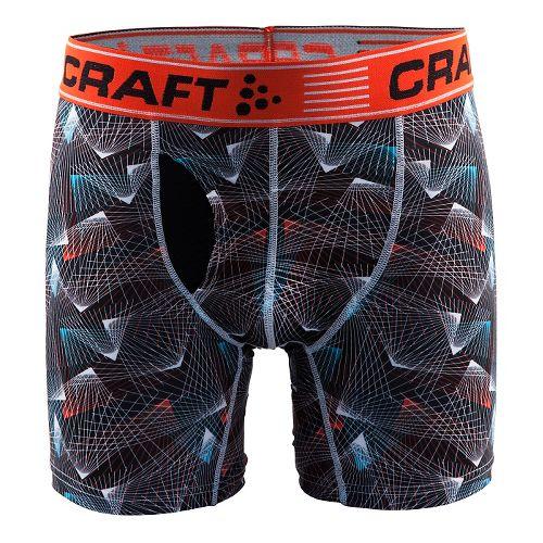 Mens Craft Greatness 6-Inch Boxer Brief Underwear Bottoms - Beam Black/Heat XL