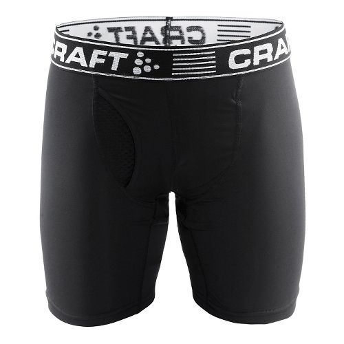 Mens Craft Greatness 9-Inch Boxer Brief Underwear Bottoms - Black/White XS