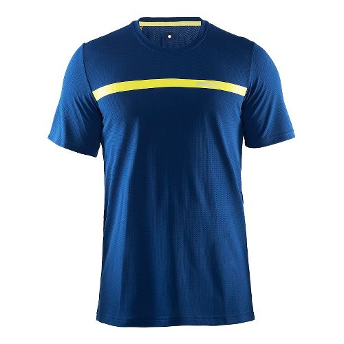 Mens Craft Joy Shirt Short Sleeve Technical Tops - Deep/Vega M