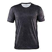 Mens Craft Mind Tee Short Sleeve Technical Tops - Line Black/Platinum XXL