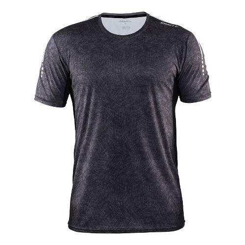 Mens Craft Mind Tee Short Sleeve Technical Tops - Line Black/Platinum S