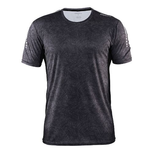 Mens Craft Mind Tee Short Sleeve Technical Tops - Line Black/Platinum XXL