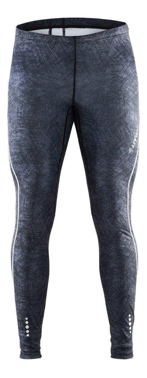 Mens Craft Mind Tights & Leggings Pants - Line Black/Platinum L