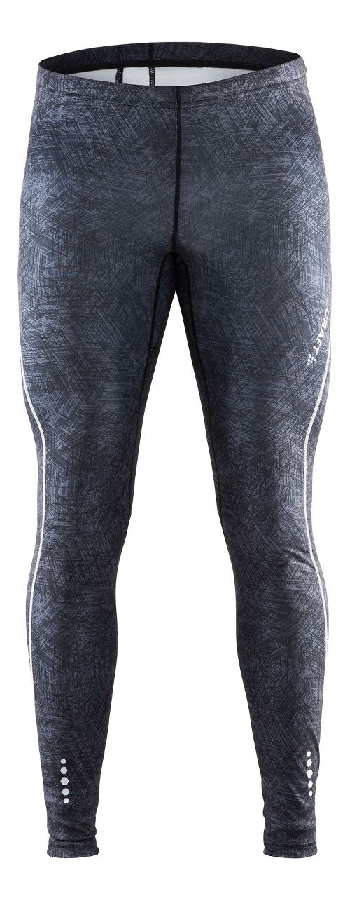 Mens Craft Mind Tights & Leggings Pants - Line Black/Platinum XXL