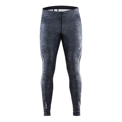 Mens Craft Mind Tights & Leggings Pants - Line Black/Platinum XL