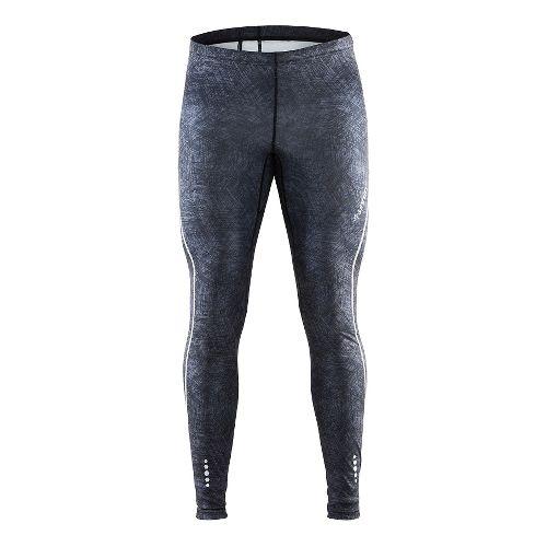 Mens Craft Mind Tights & Leggings Pants - Line Black/Platinum XXL