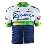 Mens Craft Orica GreenEDGE Replica Jersey Short Sleeve Technical Tops