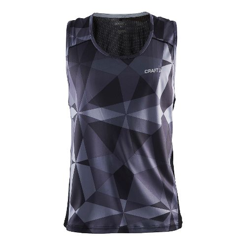 Mens Craft Precise Racerback Sleeveless & Tank Technical Tops - Geo Black XL