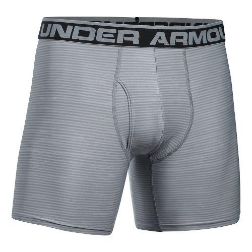 Mens Under Armour Original 6'' BoxerJock Print (Hanging) Boxer Brief Underwear Bottoms - Steel ...