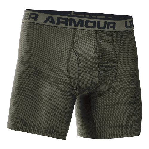 Mens Under Armour Original 6'' BoxerJock Print (Hanging) Boxer Brief Underwear Bottoms - Rough ...
