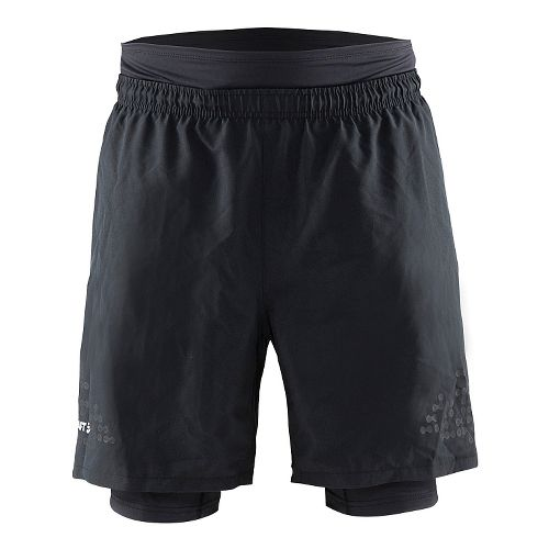 Mens Craft Trail 2-in-1 Shorts - Black/ Silver XL