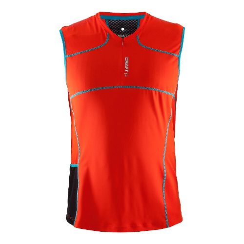 Mens Craft Trail Sleeveless & Tank Technical Tops - Heat/Gale L