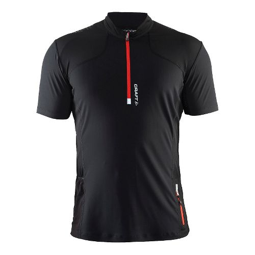 Mens Craft Trail Shirt Short Sleeve Technical Tops - Black/Heat S