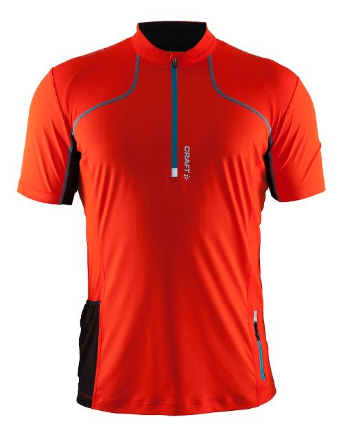 Mens Craft Trail Shirt Short Sleeve Technical Tops - Heat/Gale S