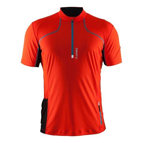 Mens Craft Trail Shirt Short Sleeve Technical Tops - Heat/Gale M