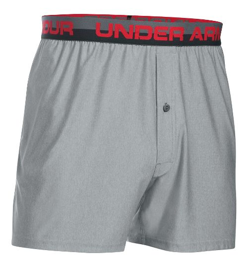Mens Under Armour Original Boxer Underwear Bottoms - True Grey Heather S